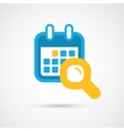 Calendar Icon - search vector image vector image