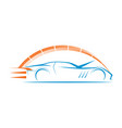 car speed logo modern vector image vector image