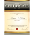 Certificate gray template vector image vector image