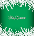 Christmas Banner Pine Green vector image vector image