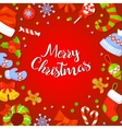 Christmas Frame With Holly Decoration vector image