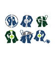 clothing for doctor tailor service set vector image