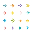colorful arrows set Flat Design vector image vector image