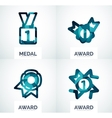 Colorful award business logo set vector image