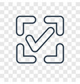 confirm concept linear icon isolated on vector image