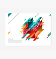 cover design template creative concept vector image vector image