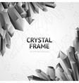 crystal minerals frame vector image vector image