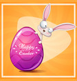 cute princess rabit happy easter vector image vector image