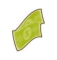 drawing money bills cash dollar vector image vector image