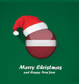 flag of latvia merry christmas and happy new year vector image