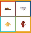 flat icon garment set of banyan clothes male vector image vector image