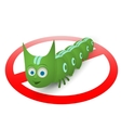 Green caterpillar pest runner vector image vector image