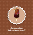 ice cream chocolate vector image