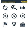 Icons set premium quality of doing business vector image vector image