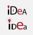 idea text element for logo vector image vector image