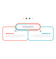 info graphic thin line design with 2 options vector image vector image