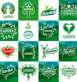 large set of logos for the garden vector image vector image