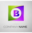 Letter B logo symbol in the colorful square on vector image vector image