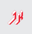 letter j and k - monogram or logotype vector image vector image