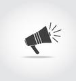 Loudspeaker black icon vector image