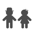 man and woman silhouette icon black shape vector image vector image