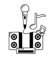 microphone speakers console music vector image vector image