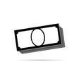 money icon in black vector image vector image