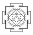 monocrome outline merkaba yantra vector image vector image