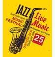 Music poster jazz festival vector image vector image