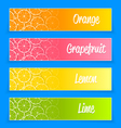 Promotional citrus banners vector image