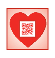QR code I love you vector image