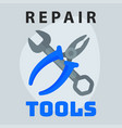 repair tools pliers wrench icon creative graphic vector image vector image