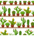 seamless pattern abstract cactuses in flower vector image