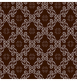 seamless pattern with swirl ornament vector image vector image