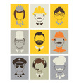 Set avatars - people of different professions vector image vector image