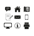 set of contacts message icons vector image vector image
