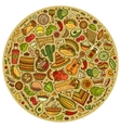 Set of Mexican food cartoon doodle objects vector image