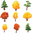 set trees - autumn vector image vector image