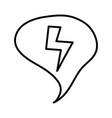 speech bubble message with power ray vector image