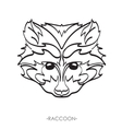 stylized Raccoon Sketch for tattoo vector image vector image
