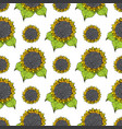 sunflower seamless pattern hand drawn sketch vector image vector image