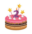 sweet cake card icon vector image vector image
