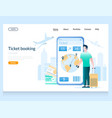 Ticket booking website landing page design