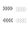 traffic arrows grey set icon vector image