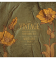 vintage background with drawing flowers vector image