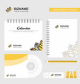 wheat logo calendar template cd cover diary and vector image
