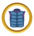 Winter quilted waistcoat icon vector image vector image