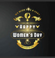womens day card with dark background vector image