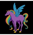 Cartoon rainbow colored unicorn vector image