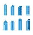 Modern skyscrapers set vector image